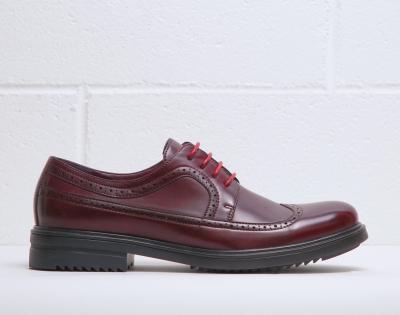 Pantofi siret Duca Di Morrone RICHARD Rosu