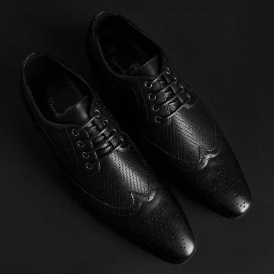 Pantofi siret Duca Di Morrone SCOTT Negru