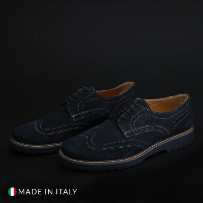 Pantofi siret Duca Di Morrone TANCREDI Albastru