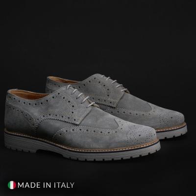 Pantofi siret Duca Di Morrone TANCREDI Gri