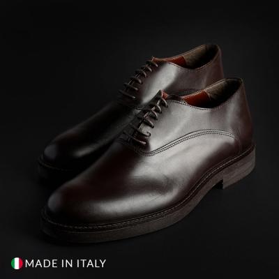 Pantofi siret Madrid 602_CRUST Maro