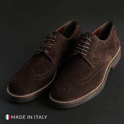 Pantofi siret Madrid 606_CAMOSCIO Maro