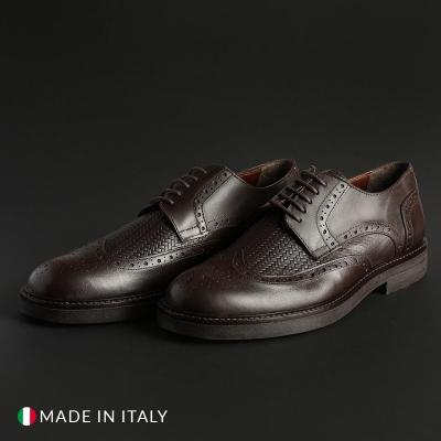 Pantofi siret Madrid 606_CRUST Maro