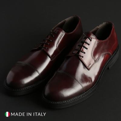 Pantofi siret Madrid CL604_ABRASIVATO Rosu