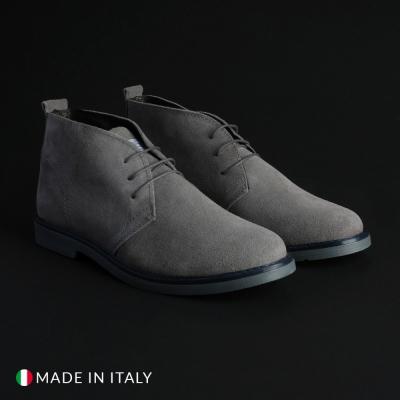 Pantofi siret Marco Nils 233_CAMOSCIO Gri