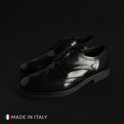 Pantofi siret Off-box 1302D_ABRASIVATO Negru