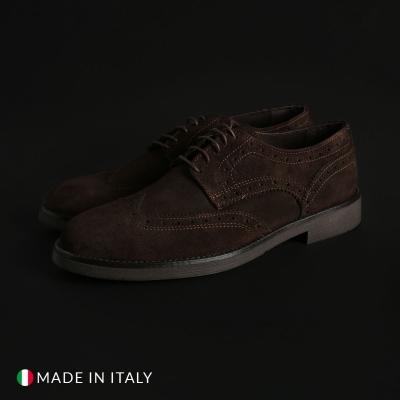 Pantofi siret Off-box 1302D_CAMOSCIO Maro