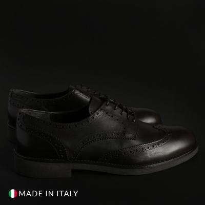 Pantofi siret Duca Di Morrone 1302D_PELLE Maro
