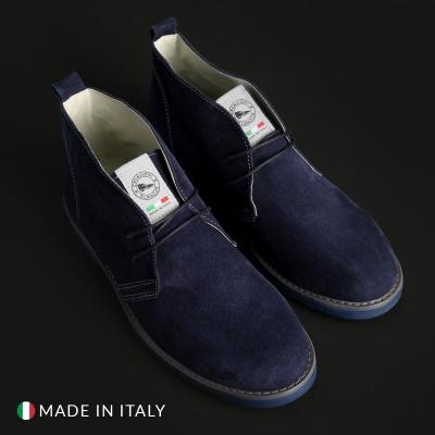 Pantofi siret Off-box 221_CAMOSCIO Albastru