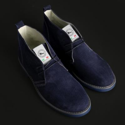 Pantofi siret Off-box 221D_CAMOSCIO Albastru