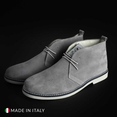 Pantofi siret Off-box 221D_CAMOSCIO Gri