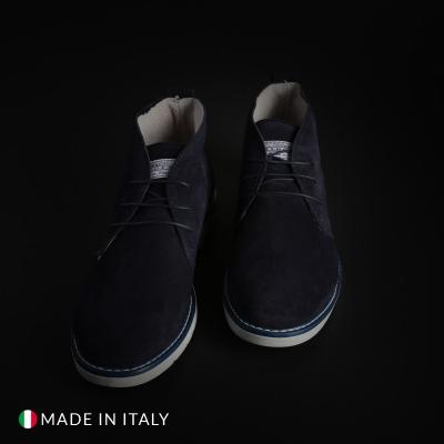 Pantofi siret Duca Di Morrone 233D_CAMOSCIO Albastru