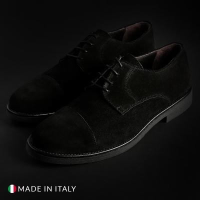 Pantofi siret Off-box 291_CAMOSCIO Negru