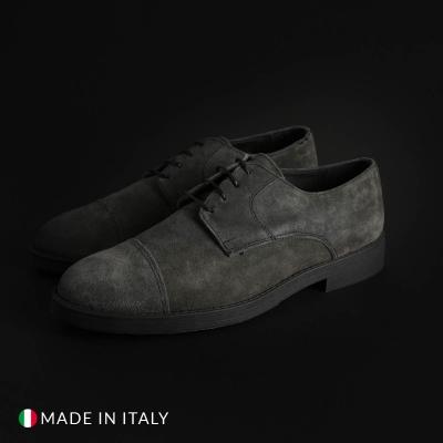 Pantofi siret Off-box 900D_CAMOSCIO Gri