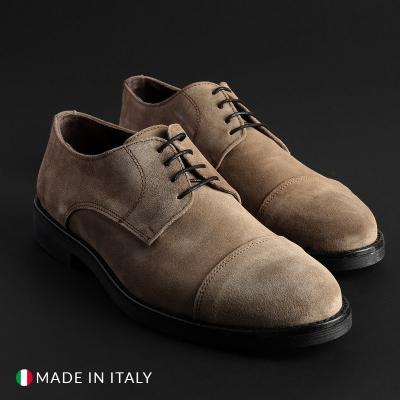 Pantofi siret Off-box 900D_CAMOSCIO Maro