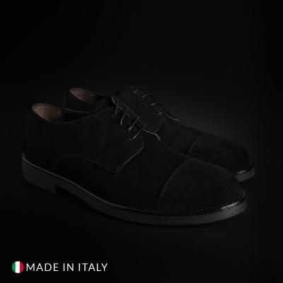 Pantofi siret Duca Di Morrone 900D_CAMOSCIO Negru
