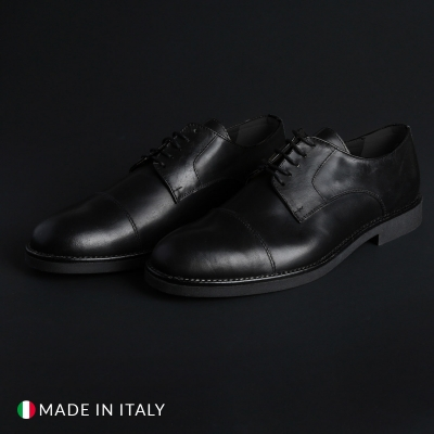 Pantofi siret Duca Di Morrone 900D_PELLE Negru