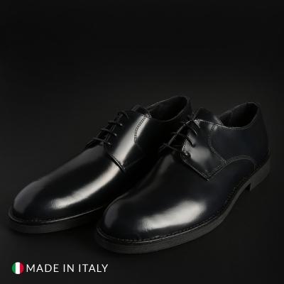 Pantofi siret Duca Di Morrone O58D_ABRASIVATO Albastru