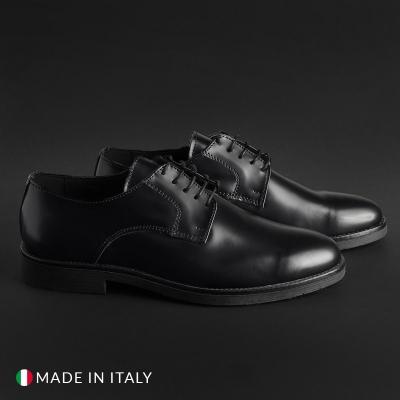 Pantofi siret Duca Di Morrone O58D_ABRASIVATO Negru
