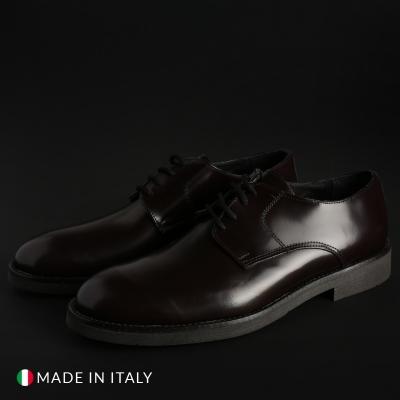 Pantofi siret Off-box O58D_ABRASIVATO Rosu