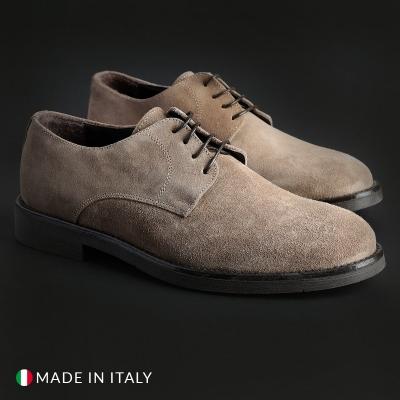 Pantofi siret Duca Di Morrone O58D_CAMOSCIO Maro