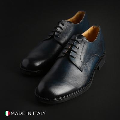 Pantofi siret Duca Di Morrone O58D_PELLE Albastru