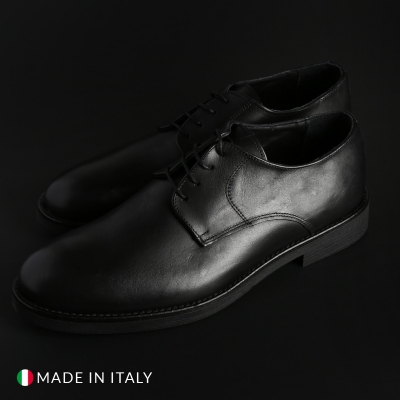 Pantofi siret Duca Di Morrone O58D_PELLE Negru