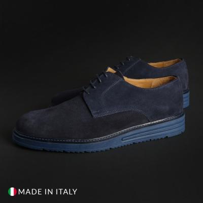 Pantofi siret Duca Di Morrone 06_BONUCCI-CAM Albastru