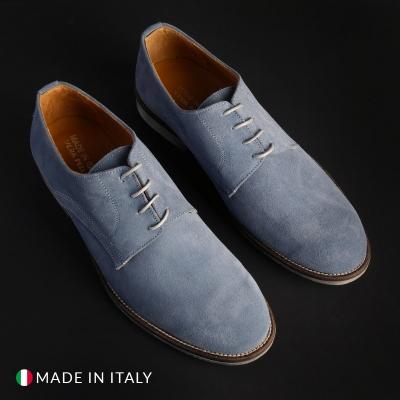 Pantofi siret Sb 3012 06_CAMOSCIO Albastru