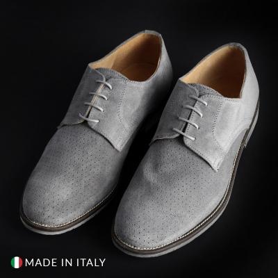 Pantofi siret Sb 3012 06_CAMOSCIOBUCATO Gri