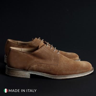 Pantofi siret Sb 3012 06_CAMOSCIOBUCATO Maro