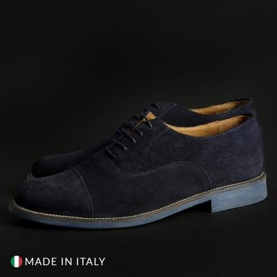 Pantofi siret Sb 3012 1003_CAMOSCIO Albastru