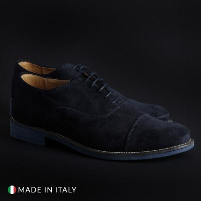 Pantofi siret Sb 3012 1003_CAMOSCIOBUCATO Albastru