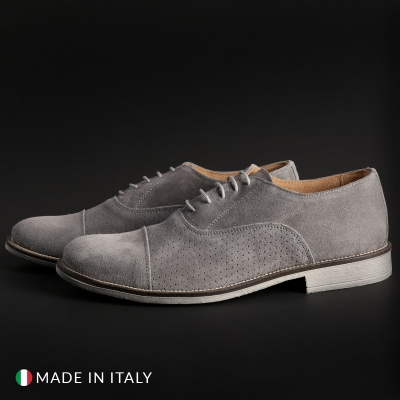 Pantofi siret Sb 3012 1003_CAMOSCIOBUCATO Gri