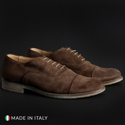 Pantofi siret Sb 3012 1003_CAMOSCIOBUCATO Maro