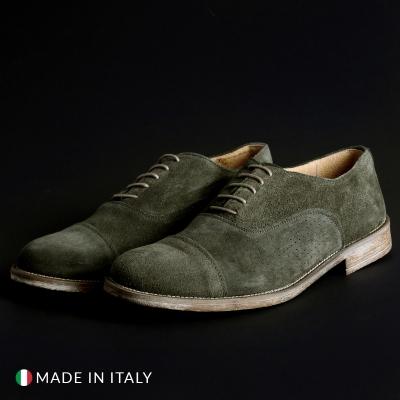 Pantofi siret Sb 3012 1003_CAMOSCIOBUCATO Verde
