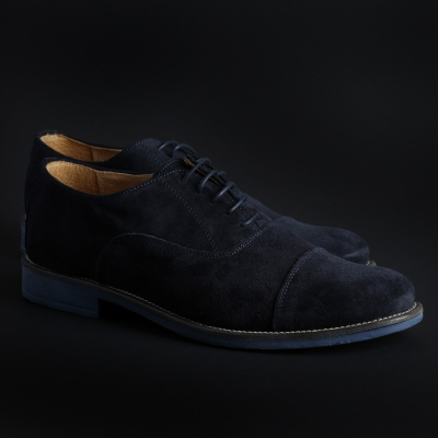 Pantofi siret Sb 3012 1003D_CAMOSCIO Albastru