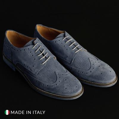 Pantofi siret Sb 3012 208_CAMOSCIOBUCATO Albastru