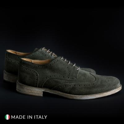 Pantofi siret Sb 3012 208_CAMOSCIOBUCATO Verde