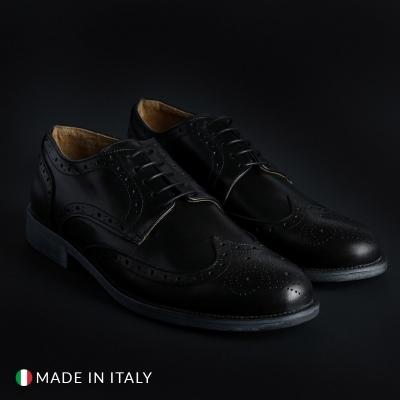 Pantofi siret Sb 3012 208_CRUST Negru