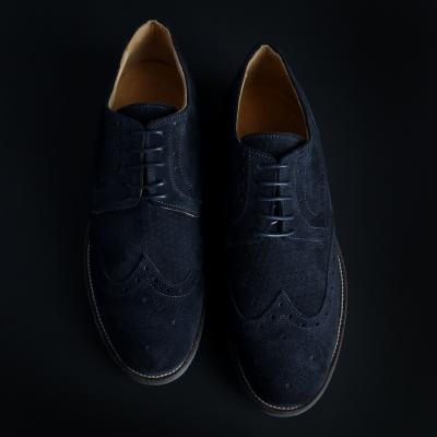 Pantofi siret Sb 3012 208D_CAMOSCIO Albastru