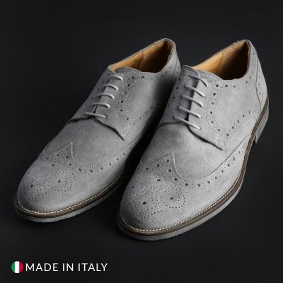 Pantofi siret Sb 3012 208D_CAMOSCIO Gri
