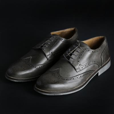 Pantofi siret Sb 3012 208D_PELLE Gri