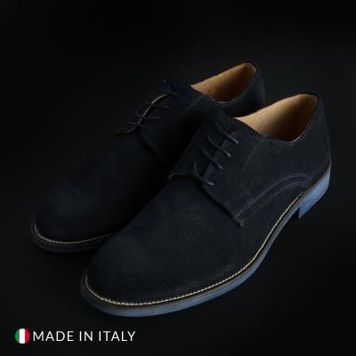 Pantofi siret Sb 3012 O6D_CAMOSCIO Albastru