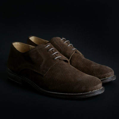 Pantofi siret Sb 3012 O6D_CAMOSCIO Maro