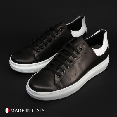 Pantofi sport Duca Di Morrone 04_PELLE Negru