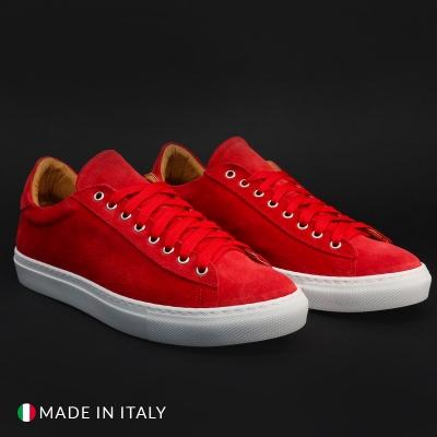 Pantofi sport Duca Di Morrone F7125_CAMOSCIO Rosu