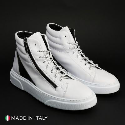 Pantofi sport Duca Di Morrone REY_4_NAPPA Alb