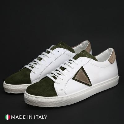 Pantofi sport Duca Di Morrone VIRGILIO-SCUDO Alb