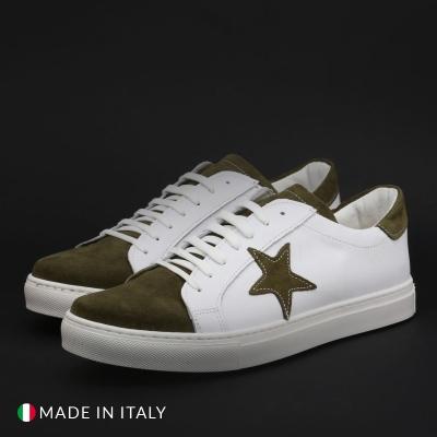 Pantofi sport Duca Di Morrone VIRGILIO-STELLA Alb